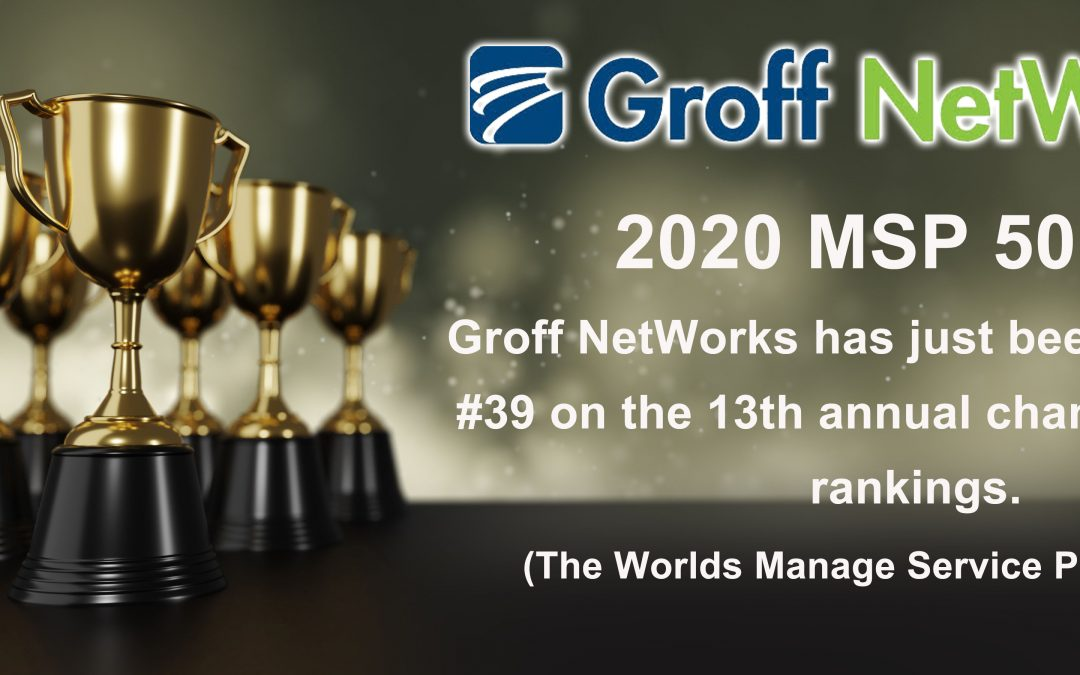 Groff NetWorks Ranks #39 on the MSP 501er Charts Among Their Peers.
